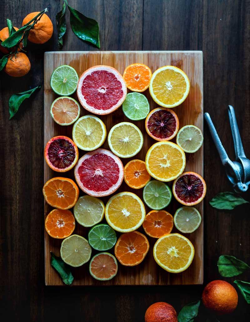 Friske sitroner og sunn kantinemat